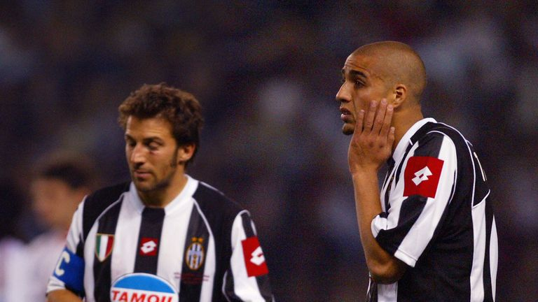 David Trezeguet missed a penalty for Juventus in the 2003 final
