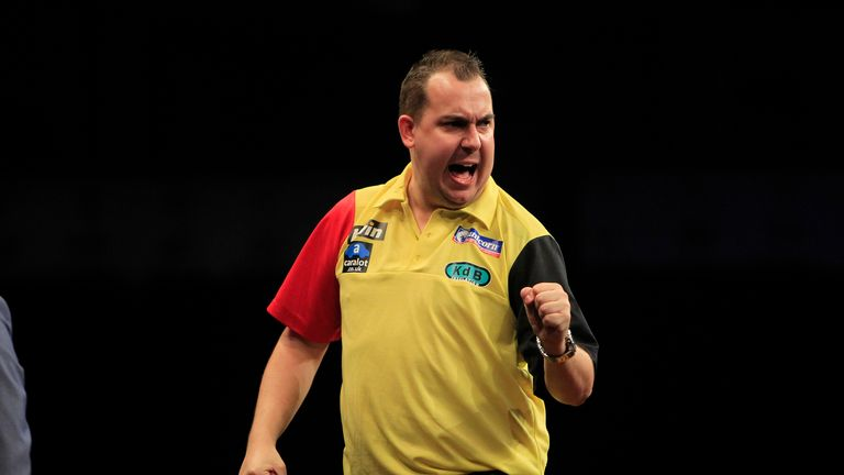 Kim Huybrechts came from 5-2 down to beat Peter Wright 6-5 in Germany