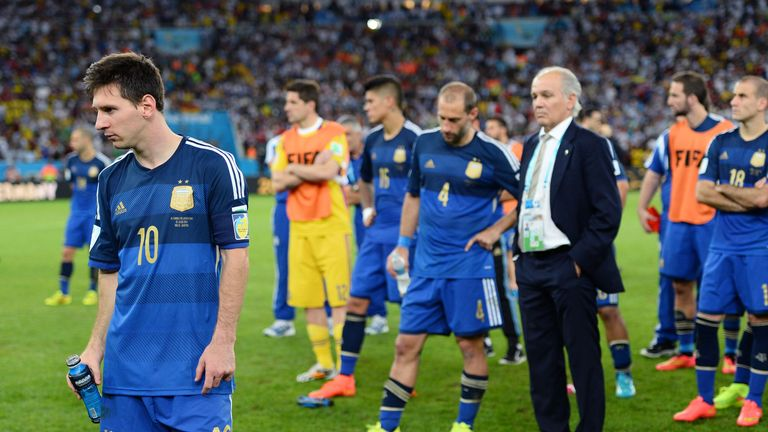 Lionel Messi suffered World Cup final heartache in Brazil last summer