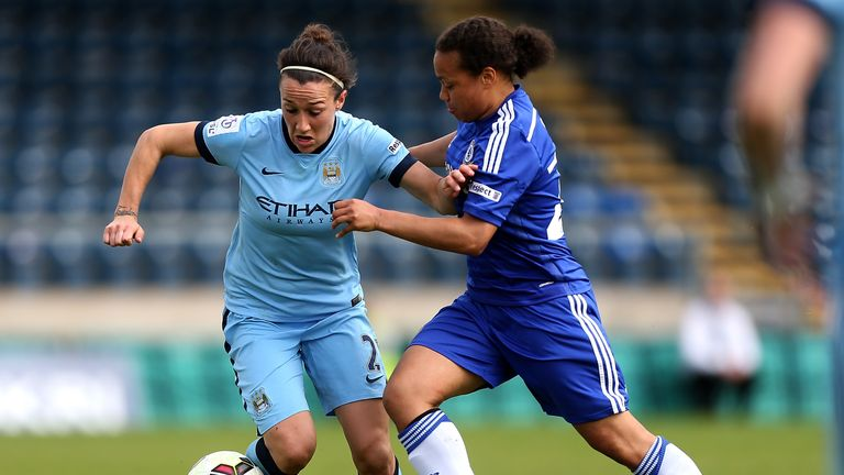 Lucy Bronze now plays for Manchester City