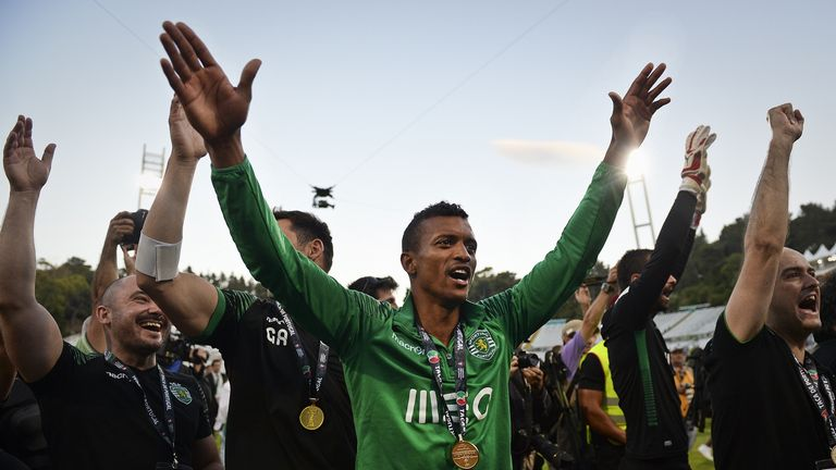 Nani: The 28-year-old winger won the Portuguese Cup with Sporting Lisbon last term