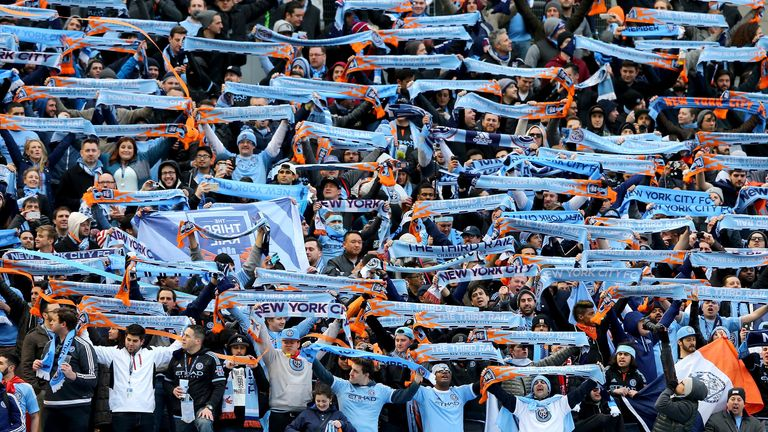 New York City FC fans: Will be heard at the first ever NY derby at Yankee Stadium