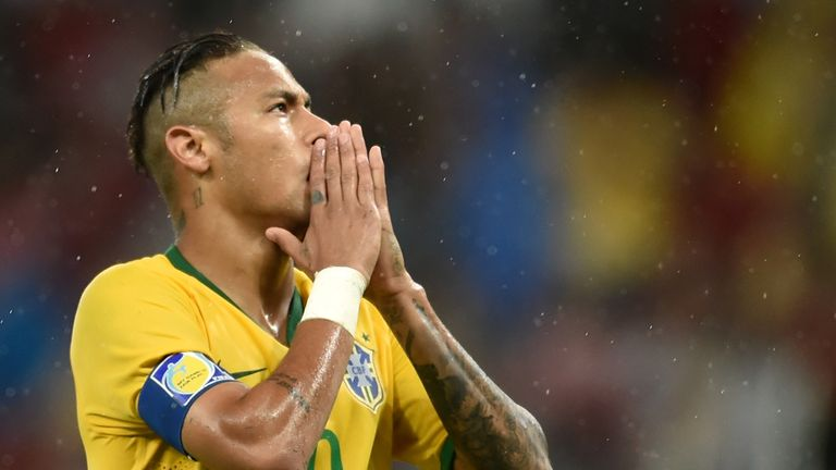 Neymar was named on the bench but did make a second-half appearance in Porto Alegre