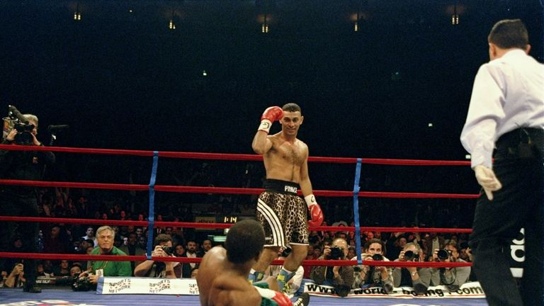 After flooring Kevin Kelley in a classic bout in 1997