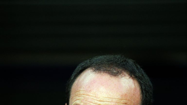 14 Oct 2001:  Portrait of Valencia coach Rafael Benitez during the Spanish Primera Liga match against Barcelona played at the Nou Camp