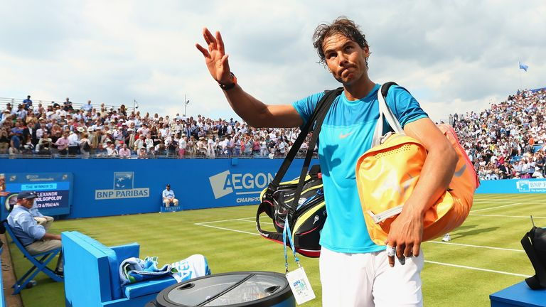 Rafael Nadal: Waved goodbye after just one match at Queen's Club
