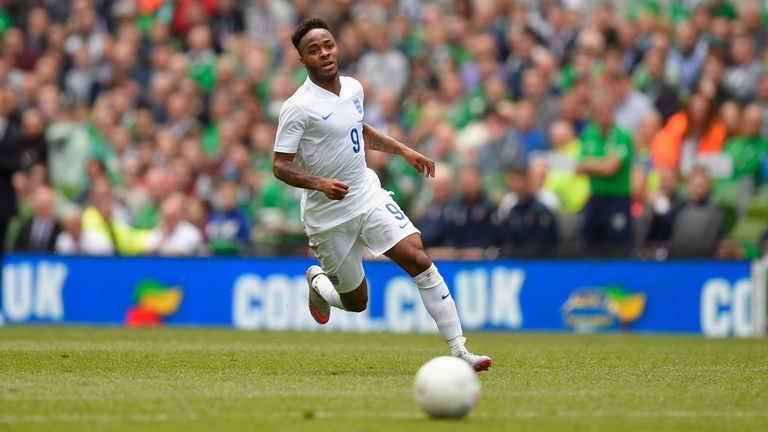 England player Raheem Sterling in action during the International friendly match between Republic of Ireland and England at Aviva Stadium in Dublin