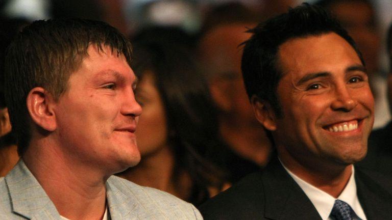 Ricky Hatton and Oscar De La Hoya: Old friends