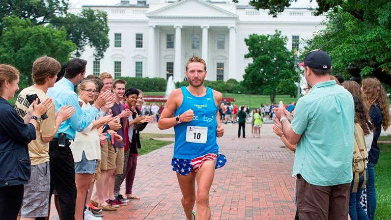 Marathon Man Rob Young, 32, finished as Race across USA winner by 30 hours (Doug Seeburg/The Sun)