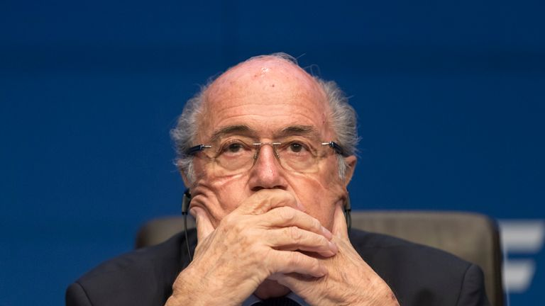 FIFA president Sepp Blatter: Revealed he would step down on Tuesday night