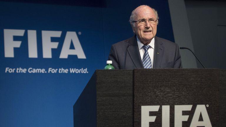 FIFA President Sepp Blatter speaks during a press conference