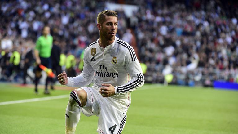 Real Madrid's defender Sergio Ramos