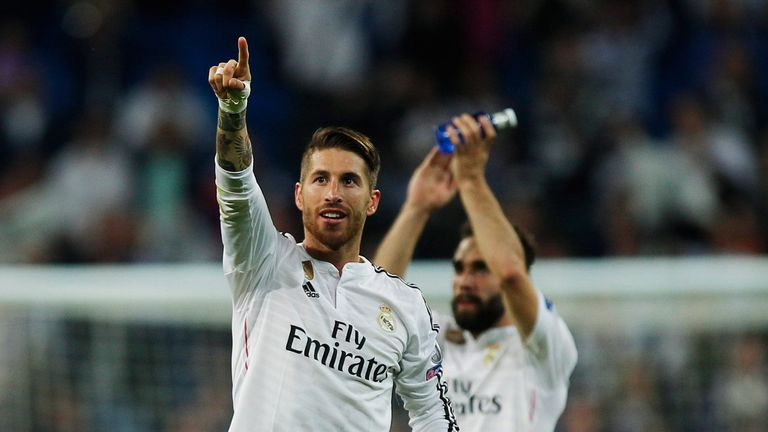 Sergio Ramos of Real Madrid has been linked with a move to Manchester United