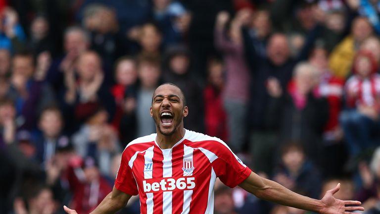 Steven N'Zonzi of Stoke City celebrates