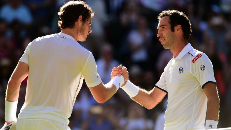 Murray shakes hands with Kukushkin and will now prepare for Dutchman Robin Haase