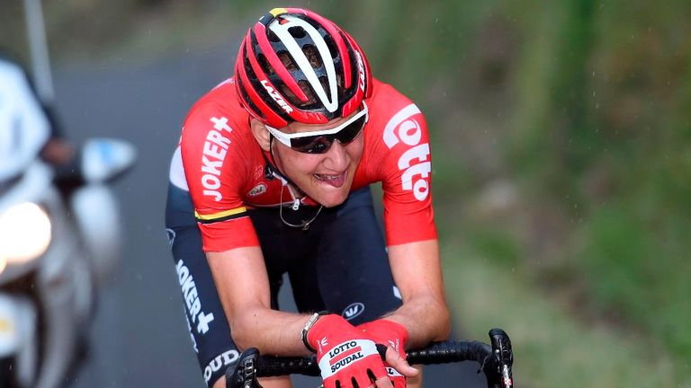 Tim Wellens saw a late attack fall short