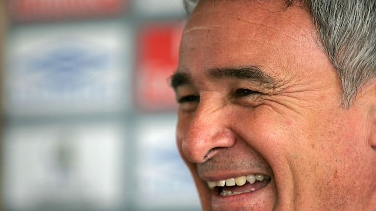 Claudio Ranieri, manager of Chelsea talks at a press conference before taking a training session