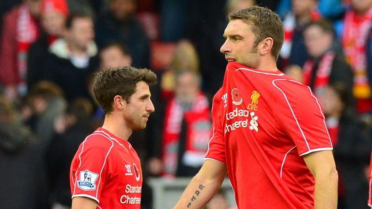 Rickie Lambert (right) was signed to give Liverpool an extra option, not as a key striker, Rodgers revealed