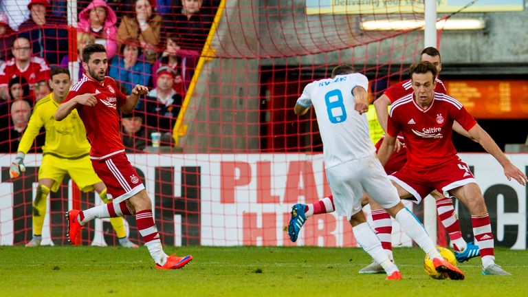 Zoran Kvrzic put Rijeka 2-0 up at Pittodrie but Aberdeen came back to draw