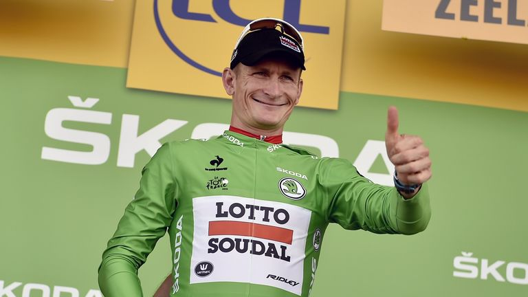 Andre Greipel's win took him to the top of the points classification