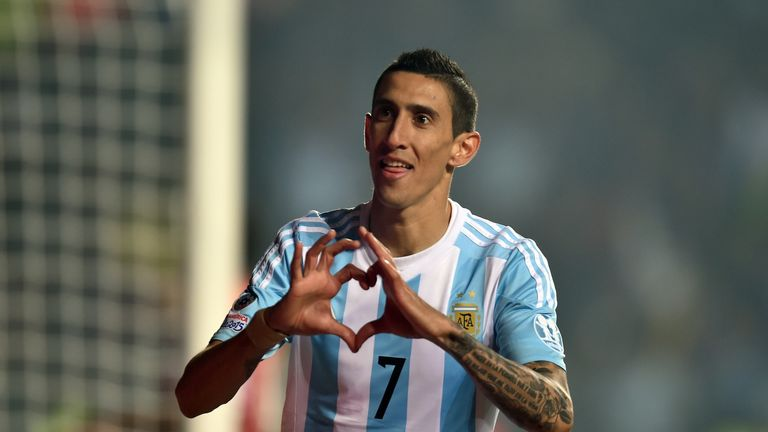 Angel Di Maria scored twice for Argentina in their semi-final win over Paraguay
