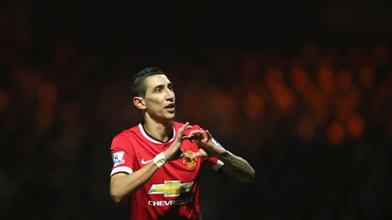 Angel Di Maria struggled to make an impact at Manchester United