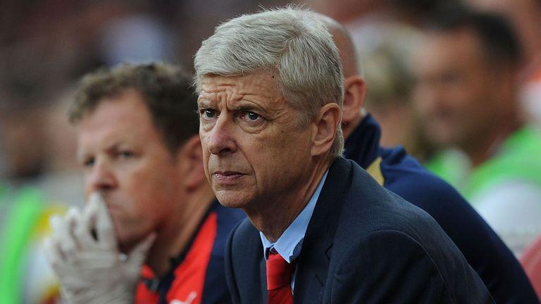 Arsenal manager Arsene Wenger during the match against Lyon