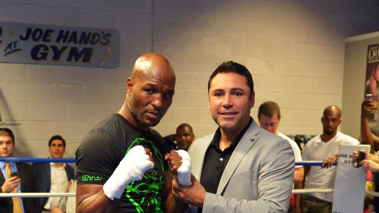 Golden Boy promotions duo Bernard Hopkins and Oscar De La Hoya have passed on their experience to Quigley
