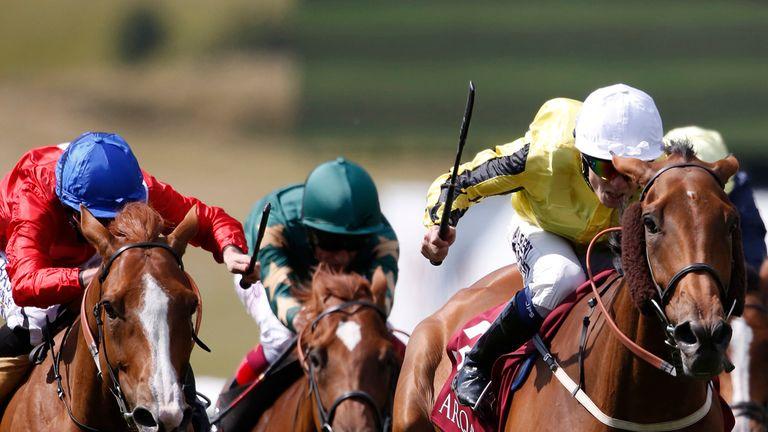 Jamie Spencer and Big Orange take the Princess of Wales's Arqana Racing Club Stakes.
