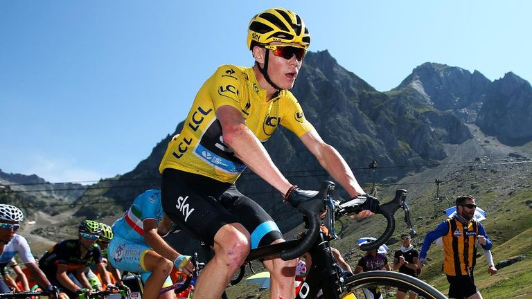 Chris Froome finished ninth on stage 11 of the Tour de France