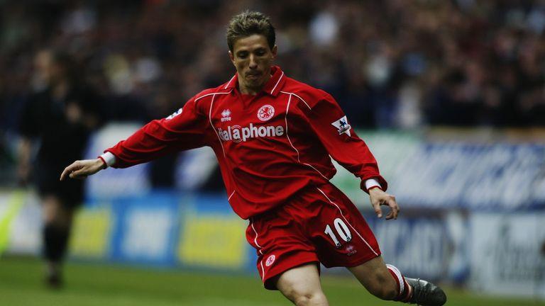 Juninho scored 29 goals in 125 Premier League appearances for Middlesbrough