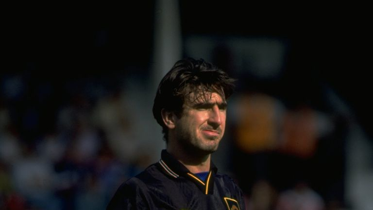 28 Aug 1993:  Eric Cantona of Manchester United pauses for breath during the Football Association Carling Premiership match against Southampton at The Dell