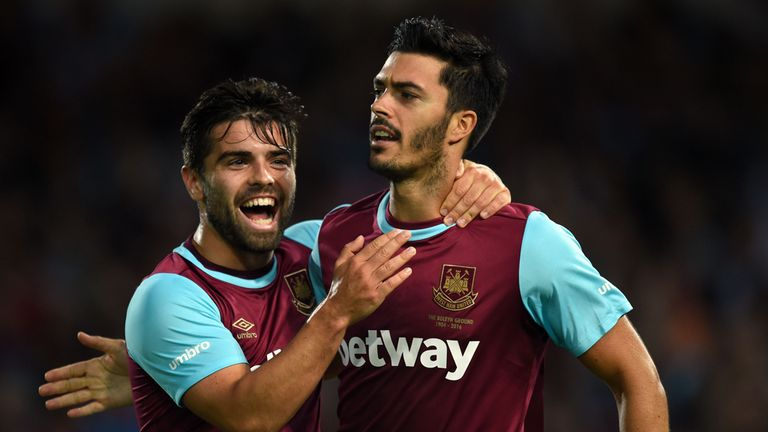 James Tomkins' goal is all that separates the sides