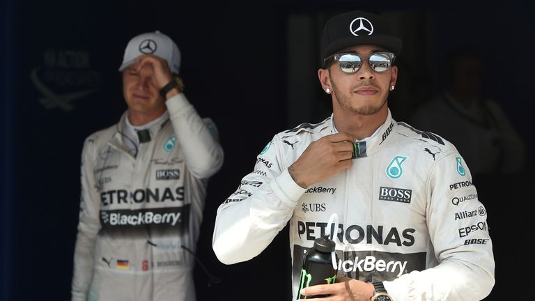 Nico Rosberg (left) nor anyone else have been able to match Lewis Hamilton  (right) in Hungary