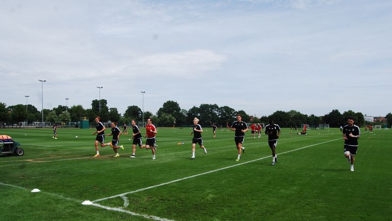 The Fulham squad have returned for pre-season training and have begun the gruelling process of regaining full fitness