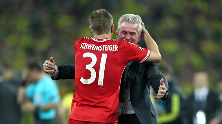 Schweinsteiger and Heynckes celebrate 2013 Champions League glory at Wembley