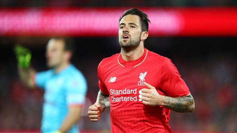 Danny Ings wheels off after scoring for Liverpool