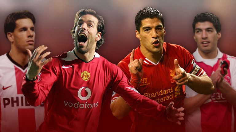 Luis Suarez and Ruud van Nistelrooy moved to the Premier League from the Eredivisie