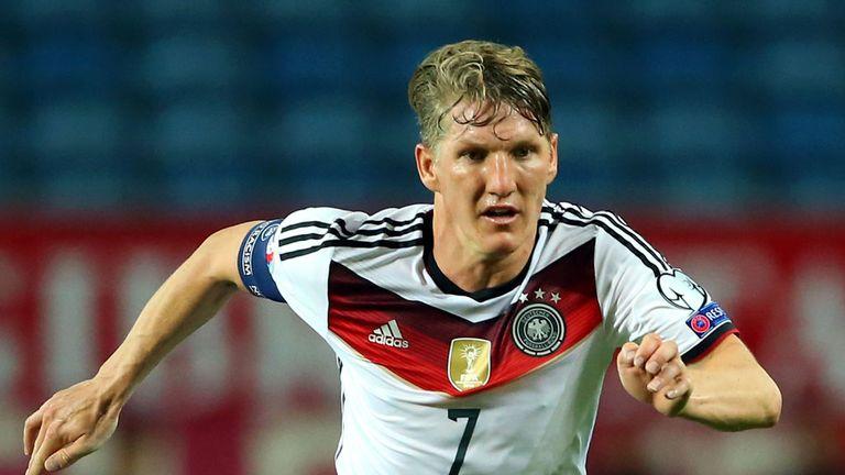 Bastien Schweinsteiger has linked up with his new Manchester United teammates