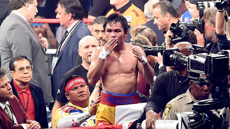 Manny Pacquiao says he will wave goodbye to boxing on April 9