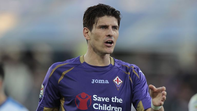 Mario Gomez of Fiorentina FC gestures during a Serie A match