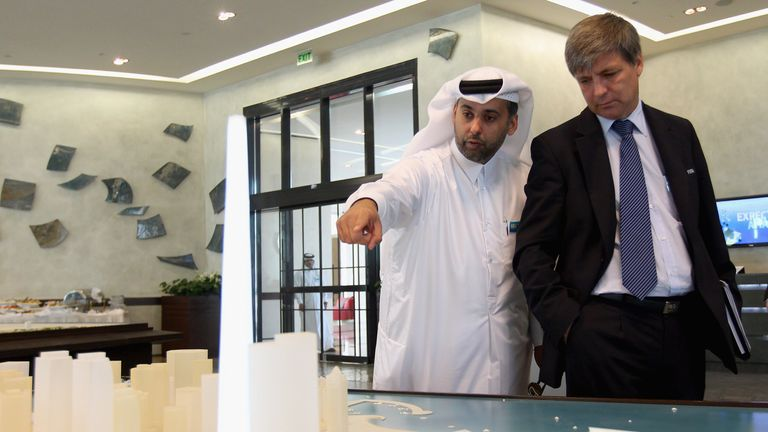 Harold Mayne-Nicholls was in Qatar in 2010 ahead of the World Cup hosting vote