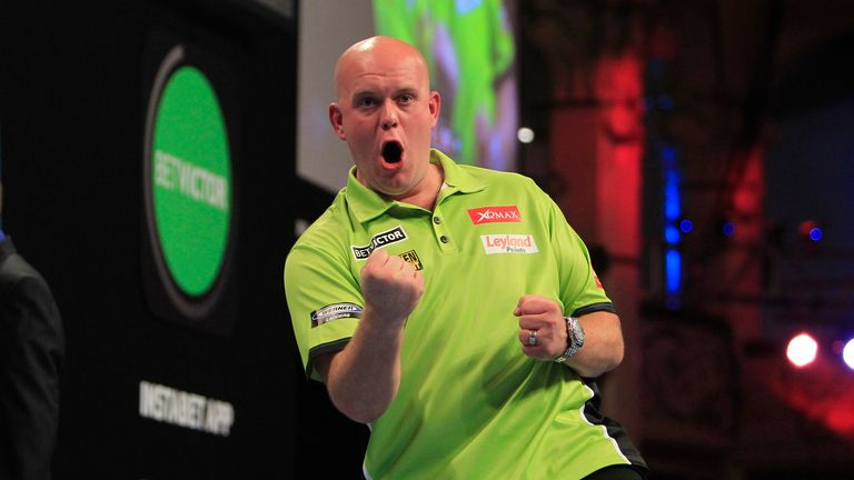 Michael van Gerwen made amends for last weekend's loss against Michael Smith