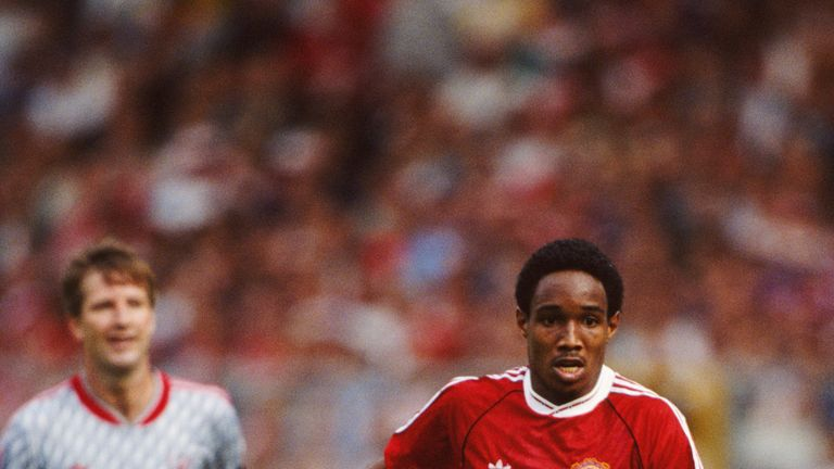 LONDON - AUGUST 18:  Manchester United player Paul Ince in action during the 1990 FA Charity Shield v Liverpool at Wembley Stadium on August 18, 1990