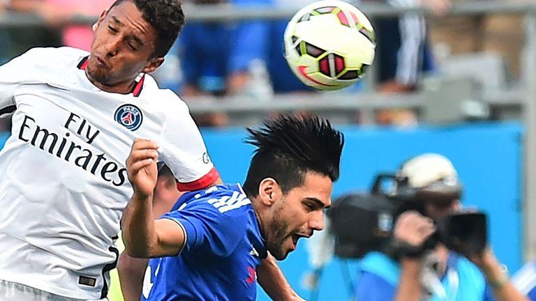 Chelsea new boy Radamel Falcao came on for the last 20 minutes against Paris Saint-Germain