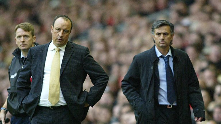Jose Mourinho never saw eye to eye with former Liverpool boss Rafa Benitez during his first stint as Chelsea manager