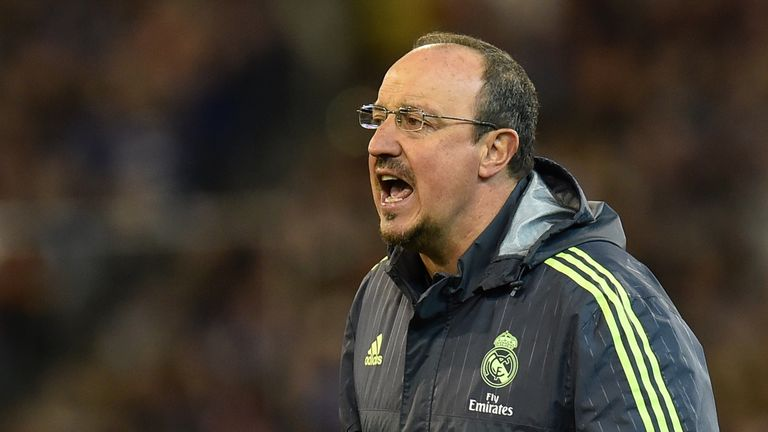 Real Madrid's coach Rafa Benitez reacts during the International Champions Cup football match