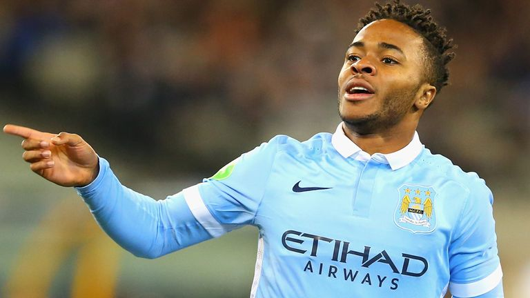 Raheem Sterling could partner Sergio Aguero