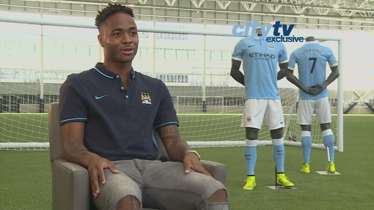 Raheem Sterling opens up after sealing his Man City move on Tuesday (Pic courtesy of City TV)