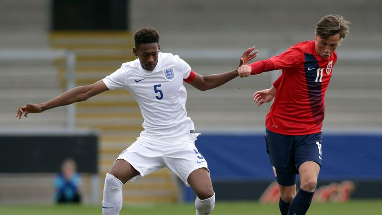 Oxford in action for England's U17s against Norway